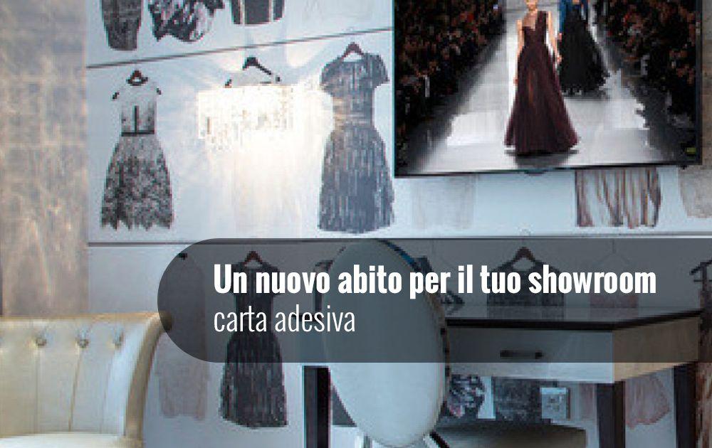 Un nuovo abito per il tuo showroom - Carta adesiva
